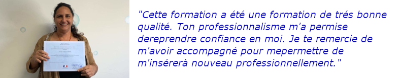 apprenant FPA 2019 avec son titre professinnel
